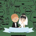 Molde de  Casamento 4 para Feltro – EVA e Artesanato
