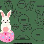 Molde de Páscoa 4 para Feltro – EVA e Artesanatos
