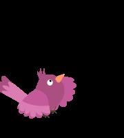Molde de passarinho 1 para eva, feltro e artesanato