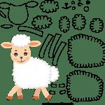 Molde de Ovelha 1 para Feltro – EVA e Artesanato