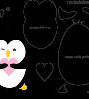 Molde de pinguim 2 para Eva, feltro e Artesanato
