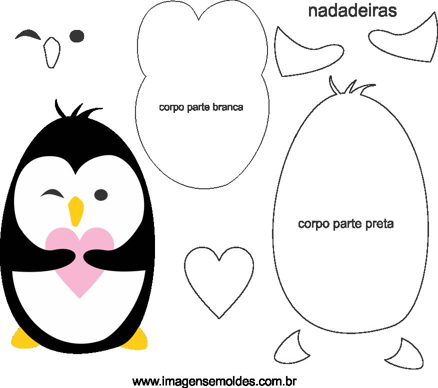 Molde de pinguim 2 para Eva, feltro e Artesanato, penguin mold, Pinguin Schimmel, molde de pingüino