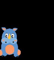 Molde de animal rinoceronte 1 para feltro, eva e Artesanato
