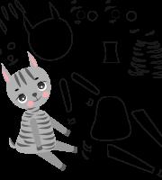 Molde de zebra e para eva, feltro e artesanato