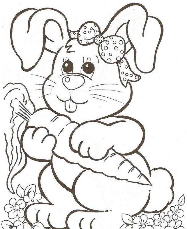 Desenhos Para Colorir Coelhinho Da Pascoa