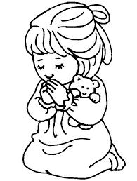 Desenhos Para Colorir Crianca Orando