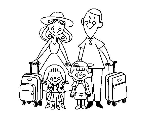 Desenhos Para Colorir Familia De Ferias