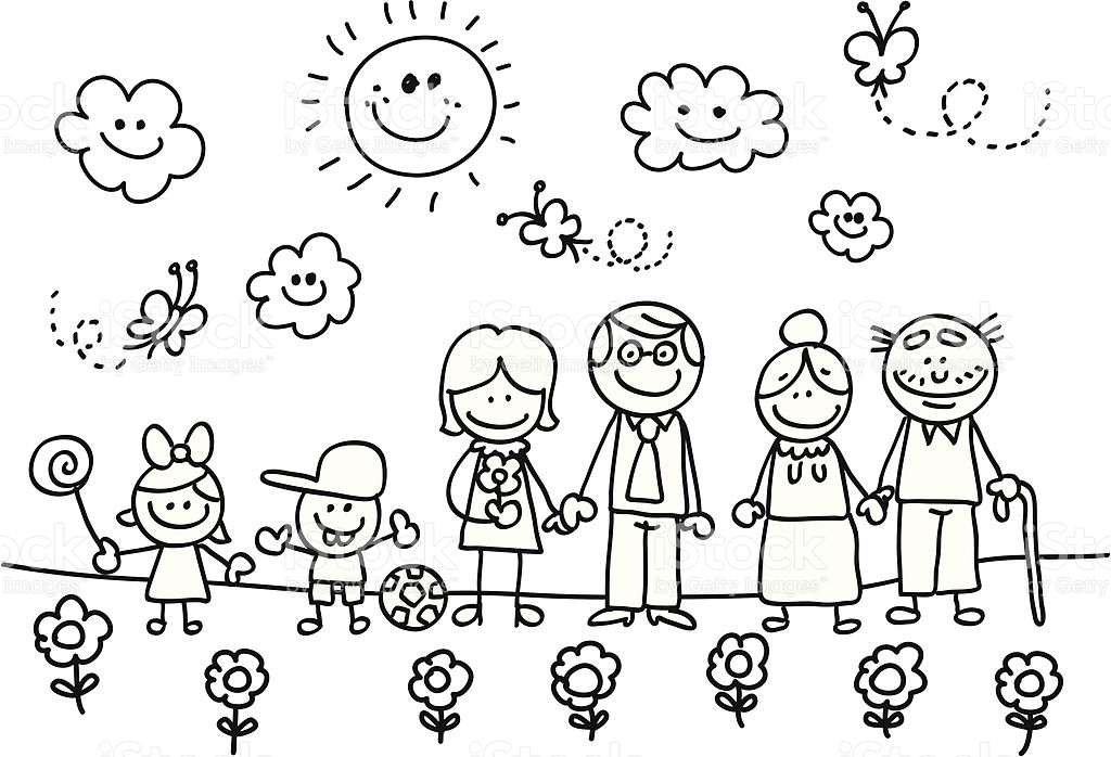 Desenhos Para Colorir Familia Feliz