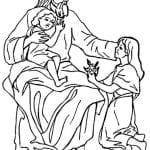 DESENHOS PARA COLORIR JESUS E AS CRIANÇAS