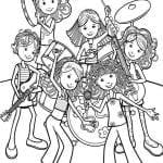 Desenhos Infantis para Colorir das Groovy Girls