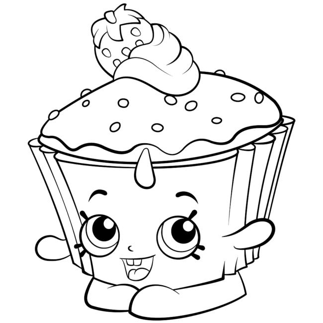Desenhos Desenho Infantil Para Colorir De Cupcake