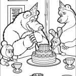 Desenhos Infantis para colorir Masha e o Urso