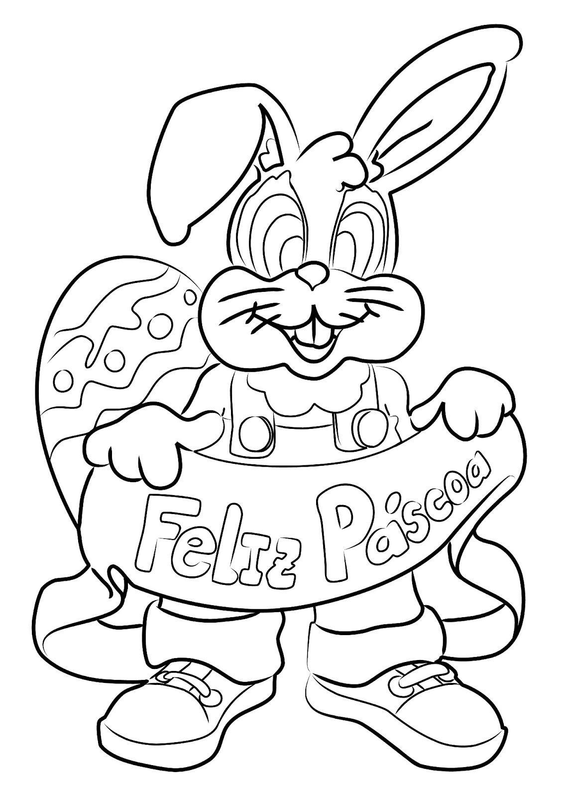 Desenhos Infantis Para Colorir De Coelhinho Da Pascoa