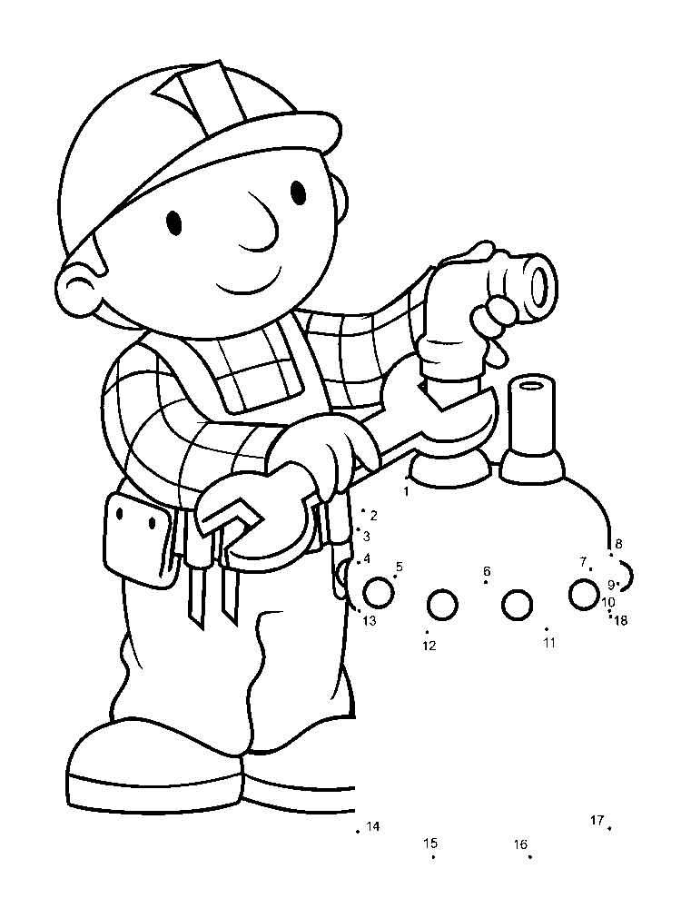 Desenhos Infantis Para Colorir Do Bob O Construtor