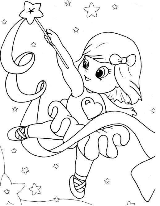 Lindos Desenhos Infantis Para Colorir De Bailarinas