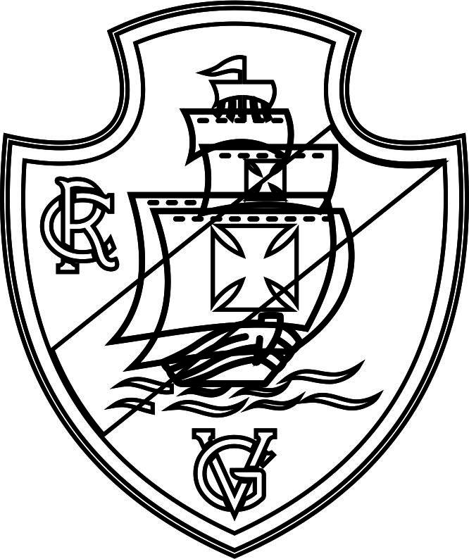 Emblema Do Vasco Da Gama Do Rio De Janeiro Para Colorir 20