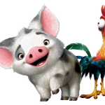 Imagem de Personagens Moana – Pua e Heihei PNG