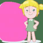 Imagens Mundo Bita – Personagem Lila para Texto PNG