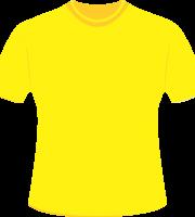 Mockup Camiseta Amarela Editável