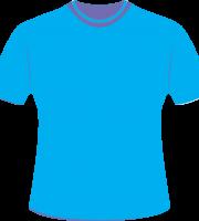 Mockup Camiseta Azul Editável