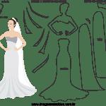 Molde de  Casamento 8 para Feltro – EVA e Artesanato
