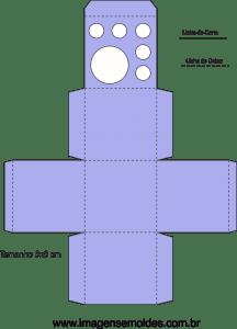 molde caixa porta kit colorir vetorizado