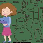 Molde de Cabeleireira 1 para Feltro, Eva e Artesanato
