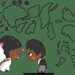 Molde de  Casamento 10 para Feltro – EVA e Artesanato