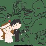 Molde de  Casamento 13 para Feltro – EVA e Artesanato