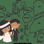Molde de  Casamento 14 para Feltro – EVA e Artesanato