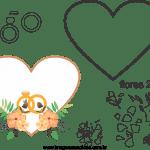Molde de  Casamento 17 para Feltro – EVA e Artesanato