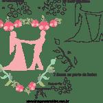 Molde de  Casamento 6 para Feltro – EVA e Artesanato