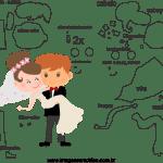 Molde de  Casamento 5 para Feltro – EVA e Artesanato