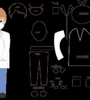 Molde de enfermeiro 6 para Eva, Feltro e artesanato