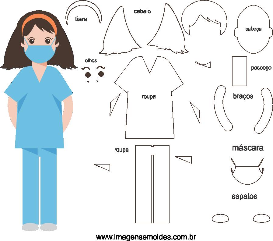 Molde de Médico 5 para Eva, Feltro e Artesanato, doctor mold, Doktor Schimmel, la medicina