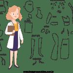 Molde de Médico 6 para Feltro, Eva e Artesanato