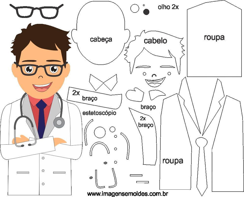 Molde de Médico 7 para Eva, feltro e Artesanato, doctor mold, Doktor Schimmel, la medicina