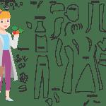 Molde de Nutricionista 3 para Feltro – EVA e Artesanato