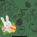 Molde de Páscoa 9 para Feltro – EVA e Artesanatos