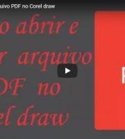 Como Abrir e Editar Arquivo PDF no Corel Draw