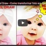 Efeito Transformar Foto Em Desenho Corel Rapido