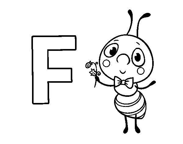 Desenho Para Colorir Da Letra F De Formiga