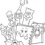 Desenhos Infantis para colorir Escola