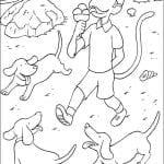 Desenhos para colorir de Babar e as Aventuras de Badou