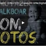 Fazer Chalkboard COM FOTO Curso Kit Arte Digital Profissional