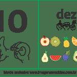Imagens, Cartazes de Números em Libras – Número Dez