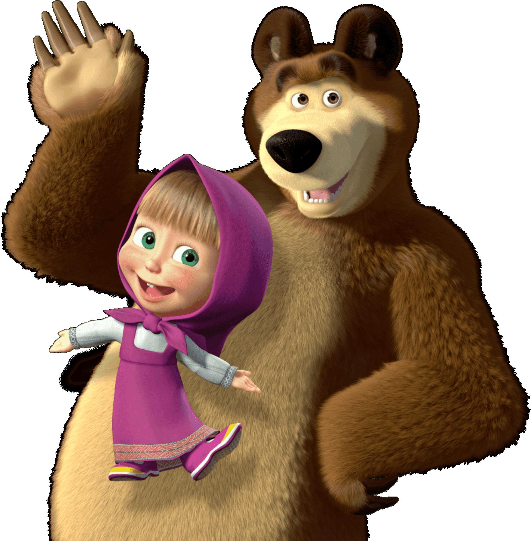 Masha E O Urso Imagem Masha E O Urso Png Imagens E Moldes