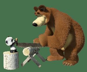 Masha e o Urso - Imagem Urso e o Panda
