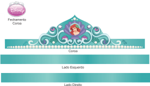 Molde Coroa Princesa Ariel, Kronprinzessin Ariel, princesa heredera Ariel, crown princess Ariel