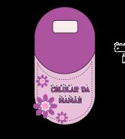 Molde Porta Carregador de celular dia das Mães 04